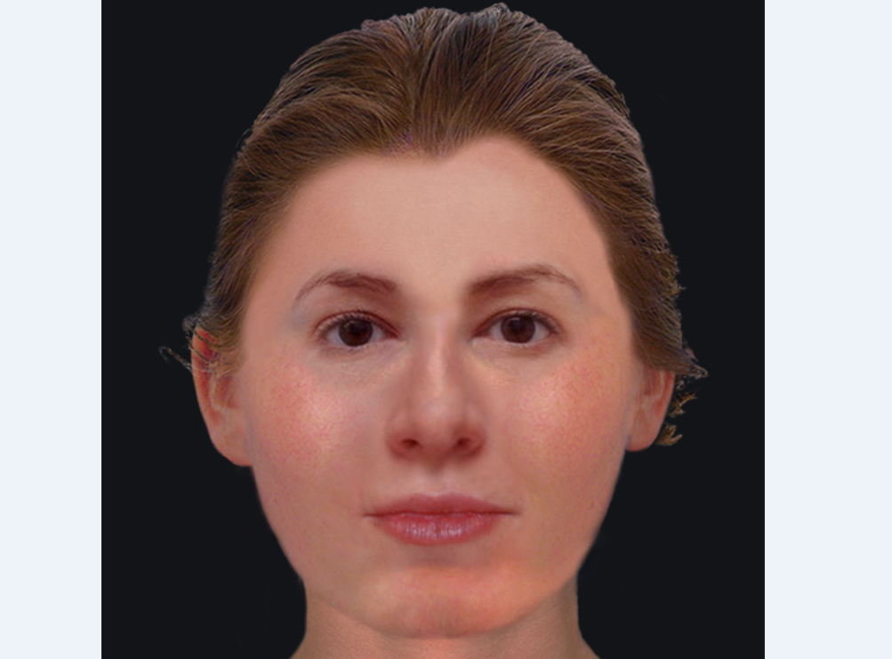 The reconstructed face of an Edinburgh woman whose teeth were robbed after she died at some point in the 18th century