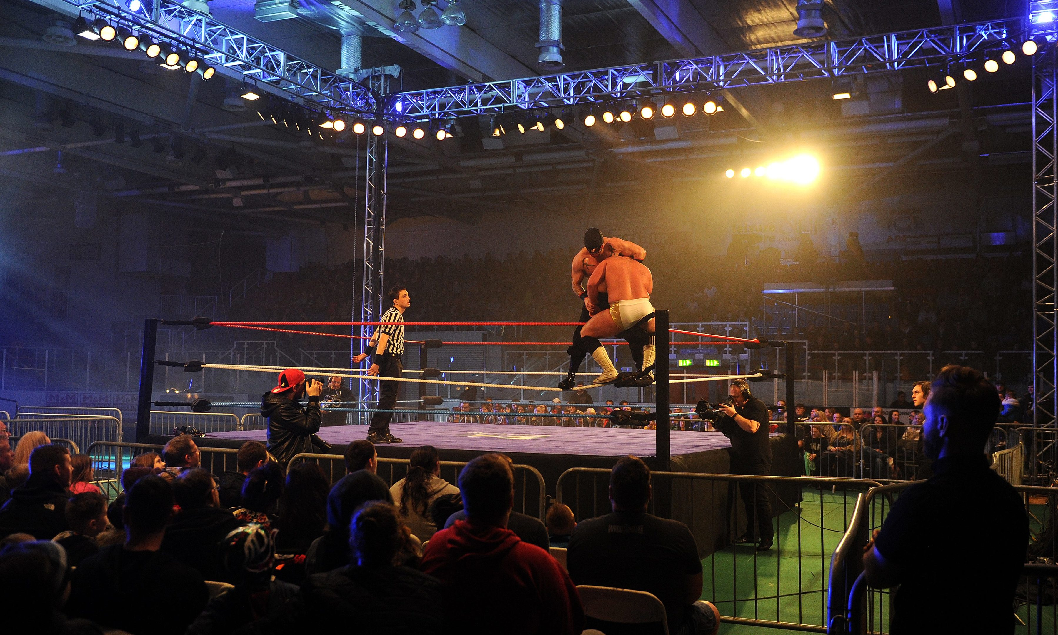 Wrestling promoters 5 Star lured 2,000 fans to a show at Dundee Ice Arena in January