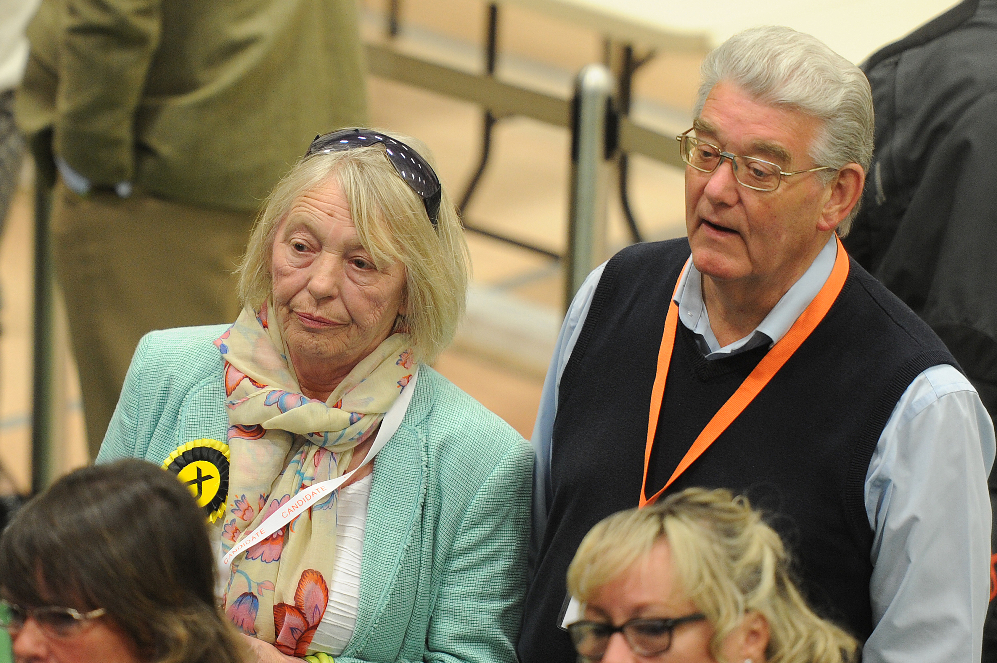 Glennis Middleton, who lost her seat in Forfar, with her husband Bill