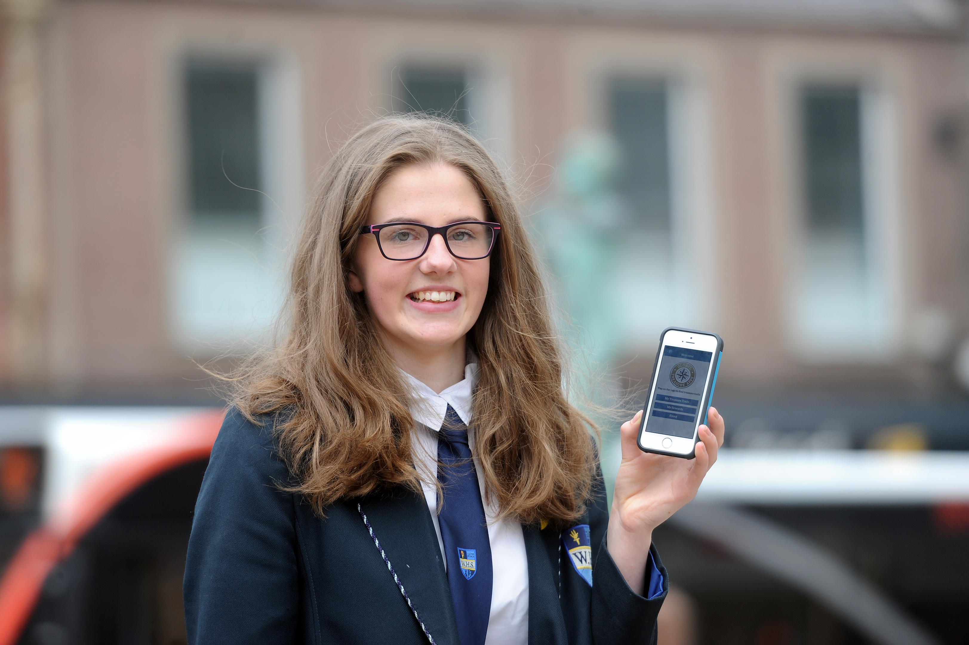 Victoria Johnston (S6) pupil at Webster's High School who proposed the app.