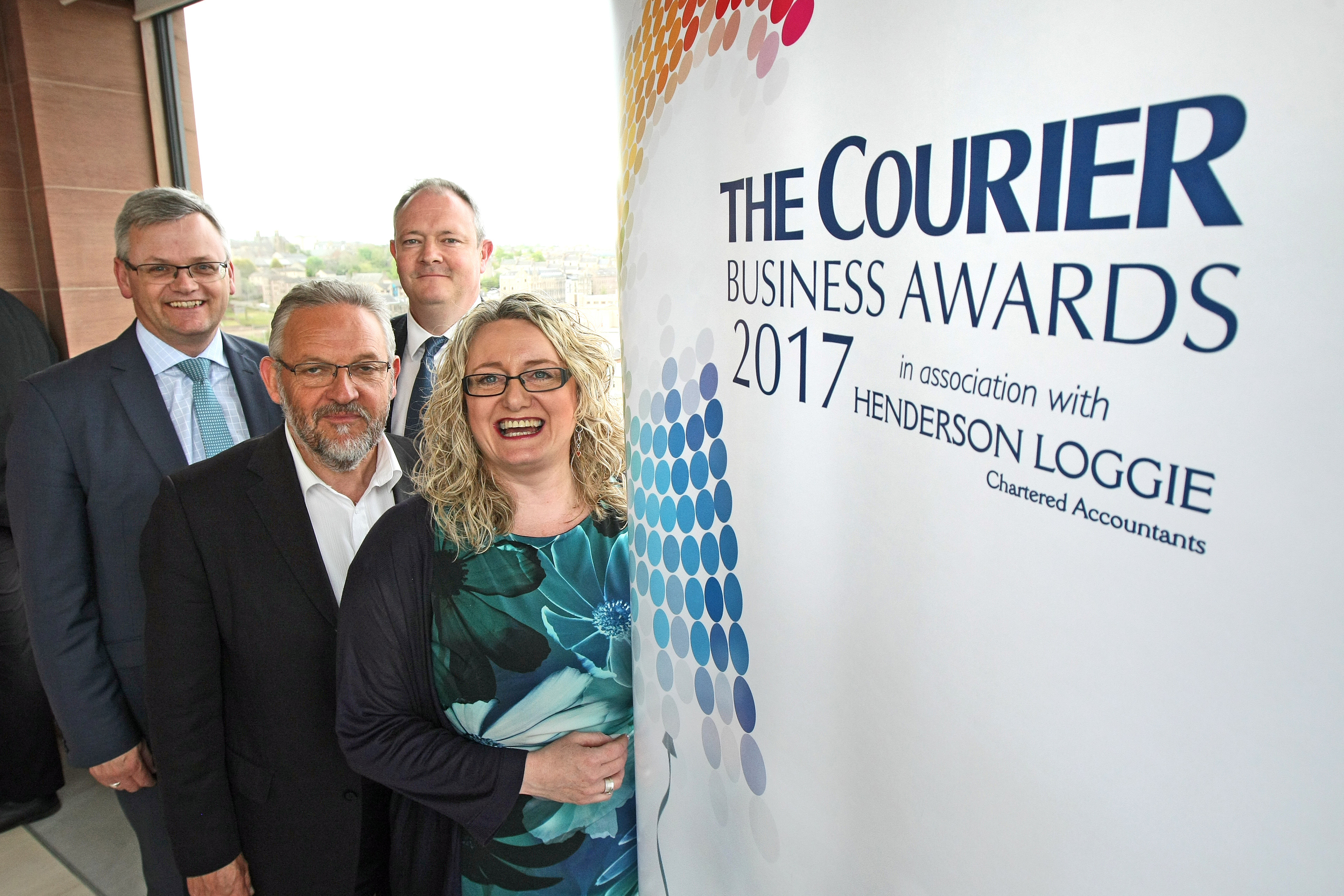 Stewart Murdoch spoke about Dundee's bid at the launch of the The Courier Business Awards 2017. He is pictured with Alan Davis, of awards partner Henderson Logie, editor of The Courier Richard Neville and Alison Henderson, CEO of Dundee Chamber of Commerce