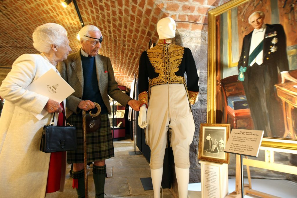 Mary, Dowager Countress of Strathmore with Lord Airlie in the exhibition