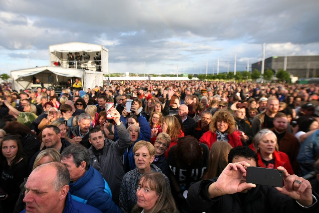 Crowd shots from UB40 gig at Slessor Gardens in Dundee.
