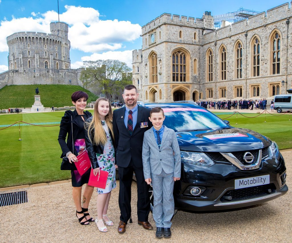 Paul Barrett with his family at Windsor Castle.