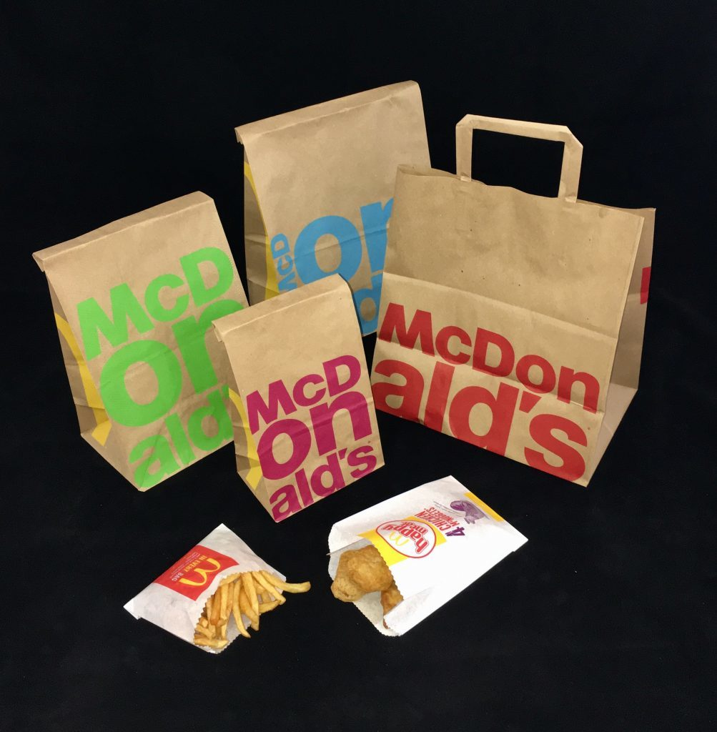 Some of McDonalds bag range supplied by Smith Anderson