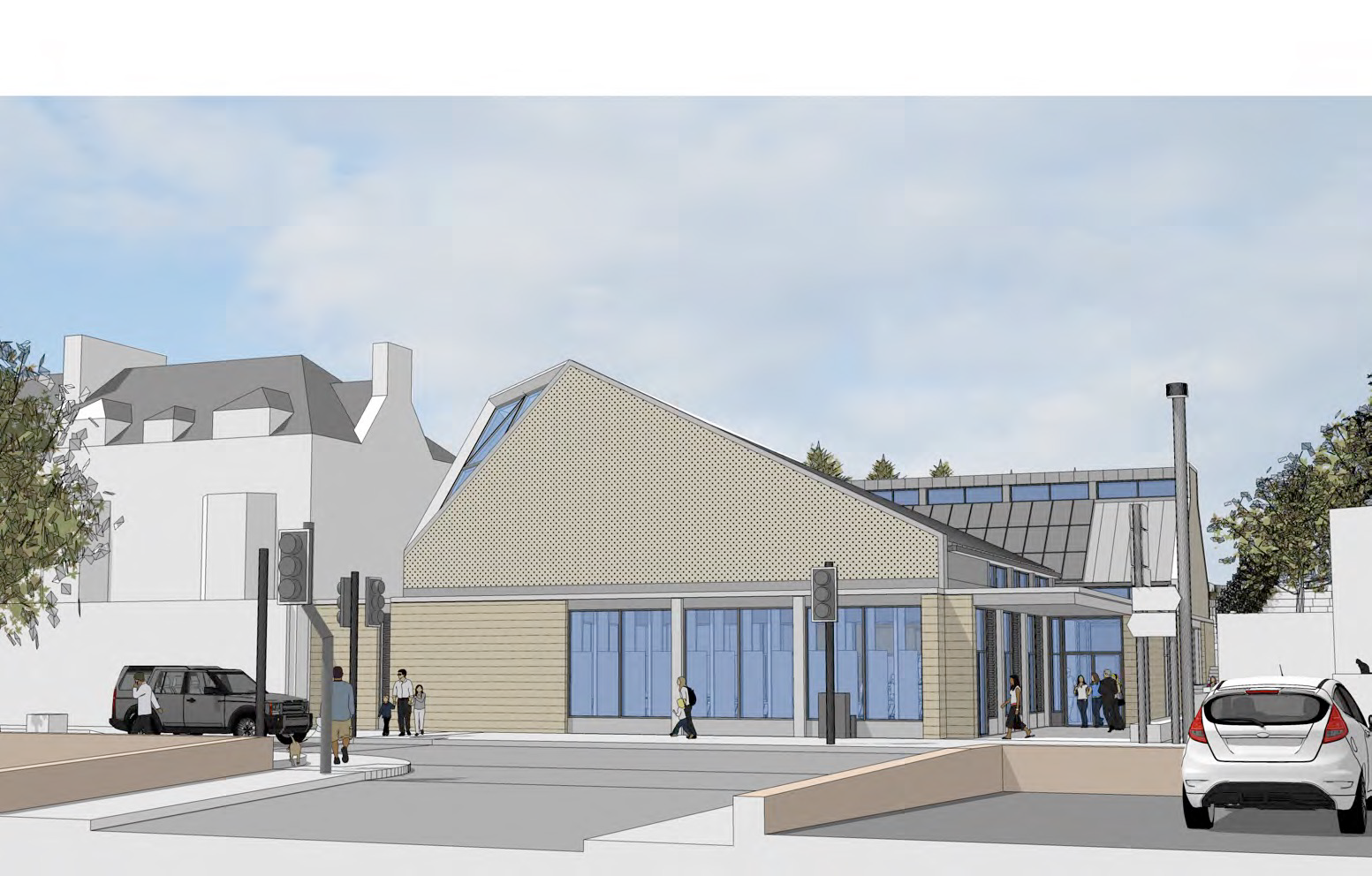 An impression of how the main church building could look, on Monifieth High Street.