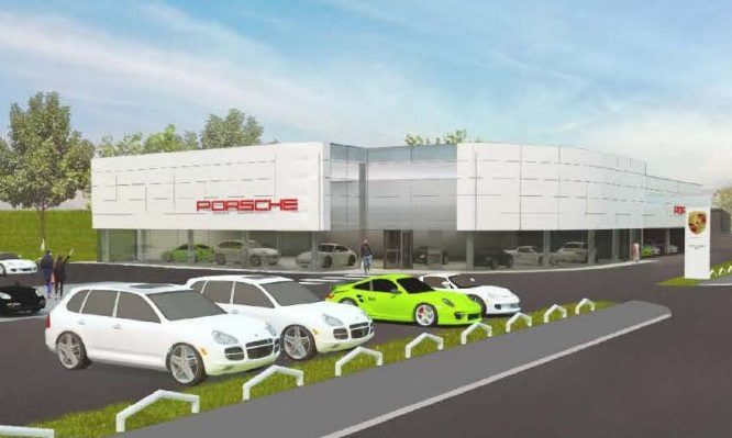How the new Perth Porsche Centre could look.