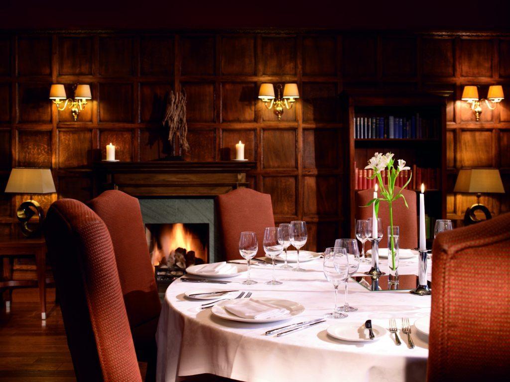 Fine dining at Macdonald Marine Hotel.