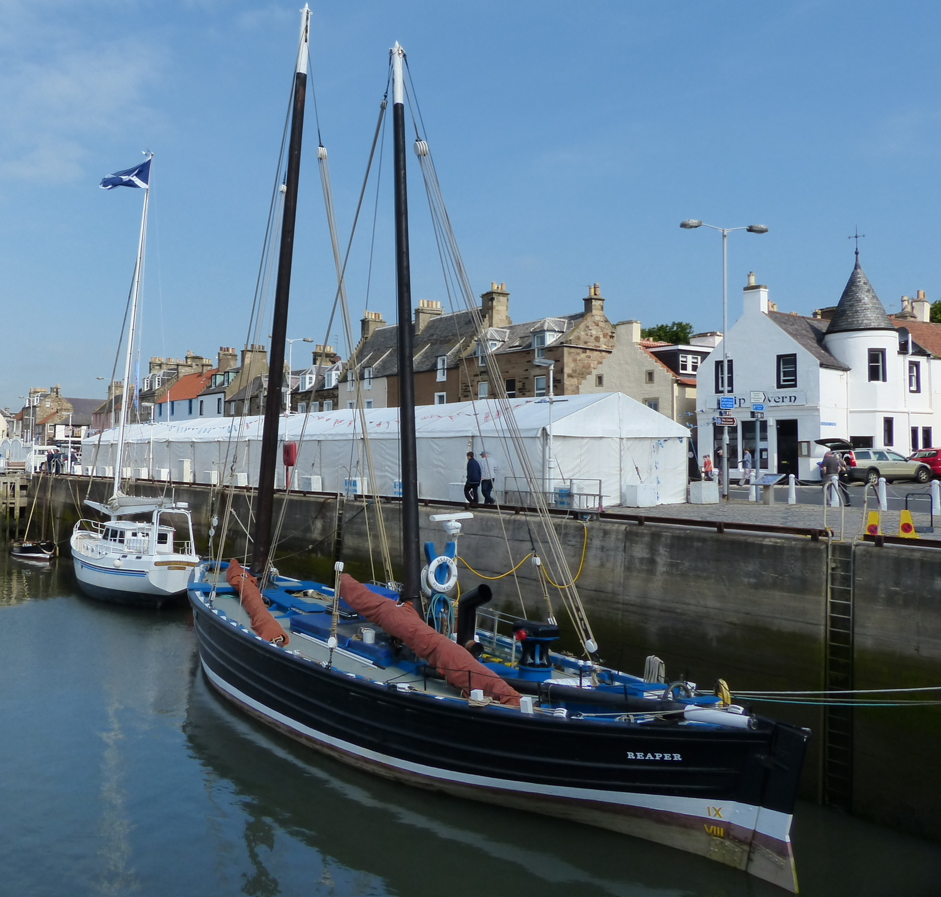 Reaper at last year's Anstruther Harbour Festival