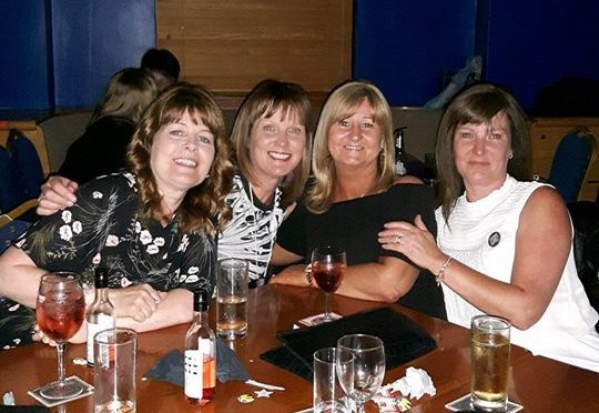 Pauline McIntosh, Cindy Furry, Jacqueline Dillon and Sharon Crosby at the reunion.