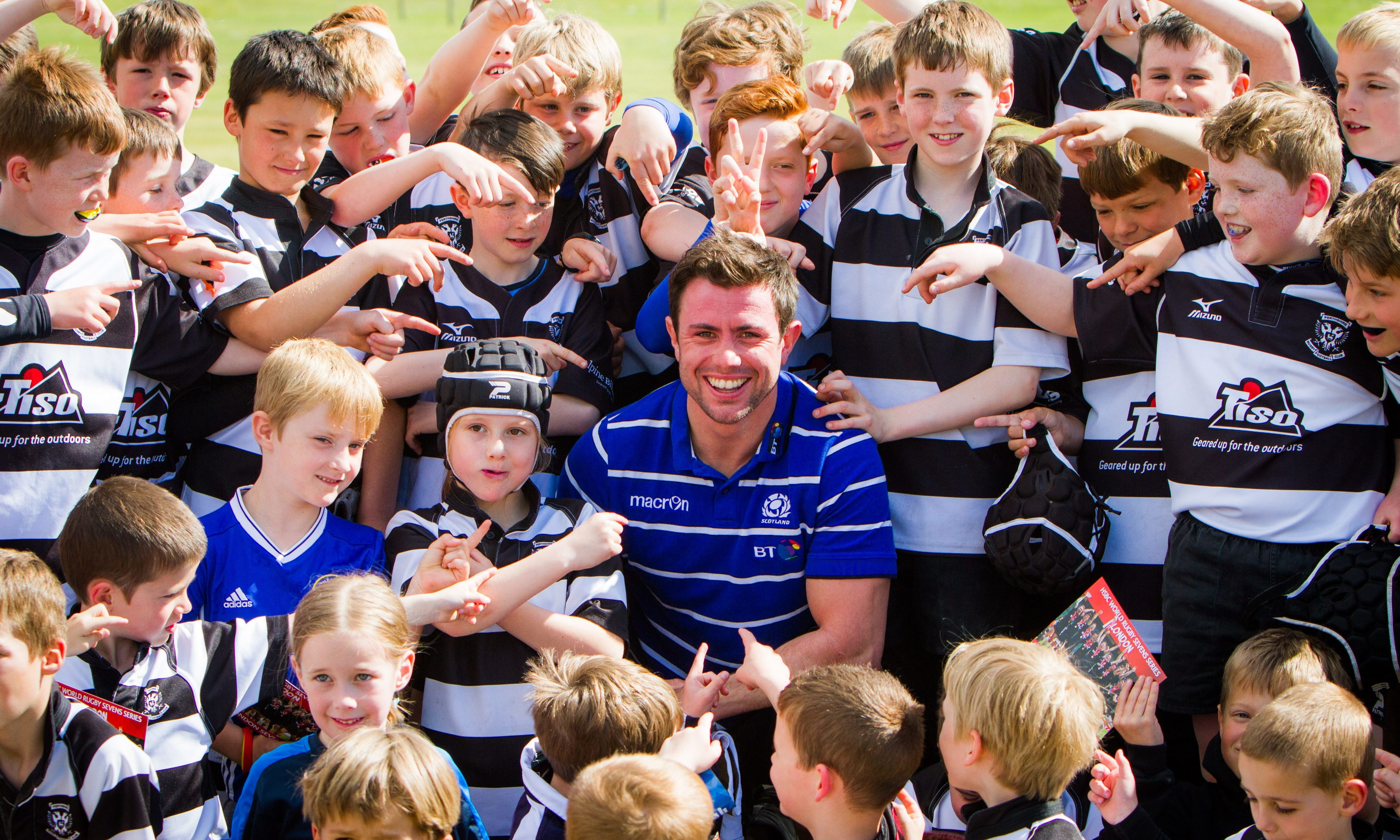 Rugby star James Fleming hosts mini festival tournament in Perth.