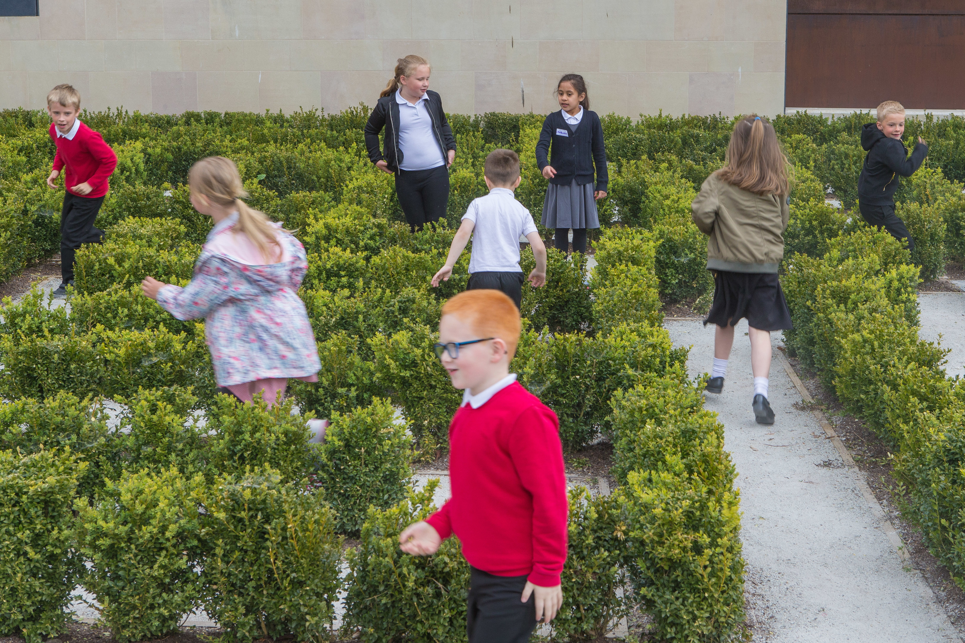 Prmary three pupils from Lynburn Primary have a-maze-ing fun