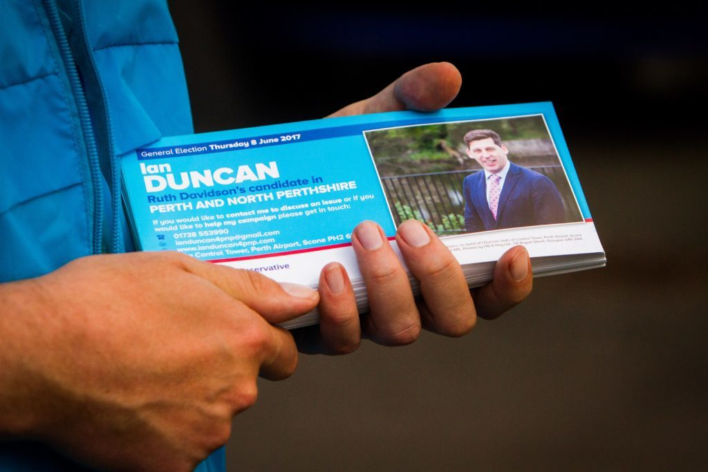 One of Ian's campaign leaflets.