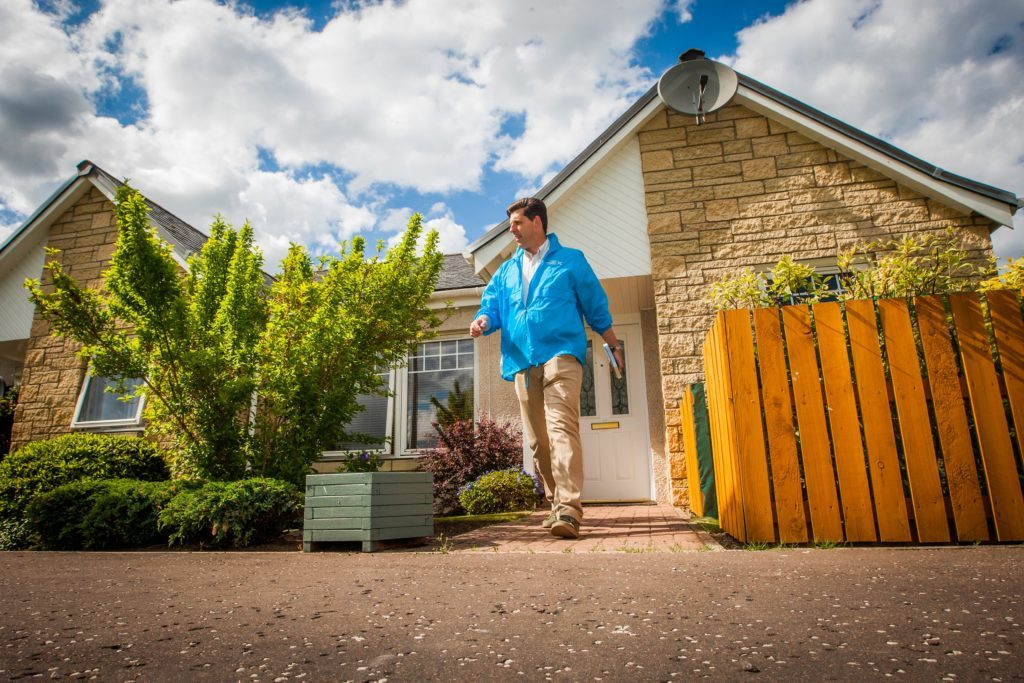 Ian Duncan canvassing in Inchture.