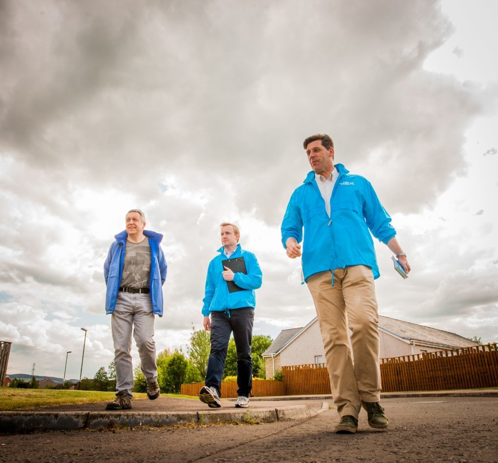 Councillor Angus Forbes, Ben Rose (Head of Office, Scotland) and Ian Duncan.