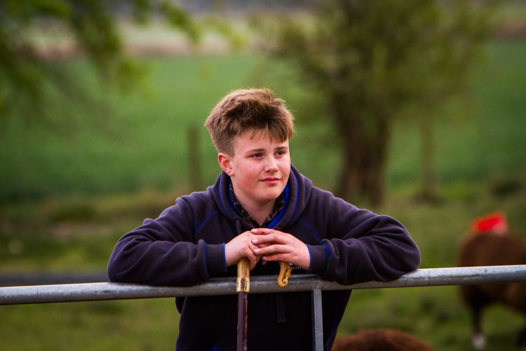 Young farmer Archie Downie.