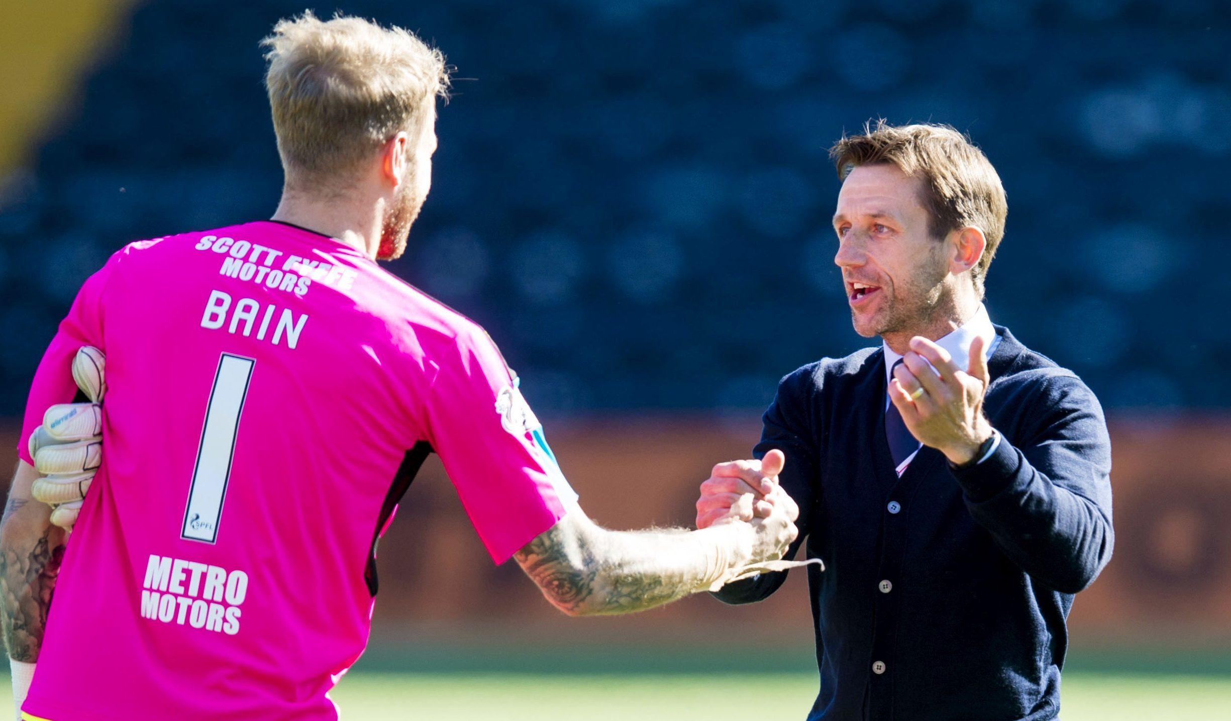Scott Bain and Neil McCann at full time.