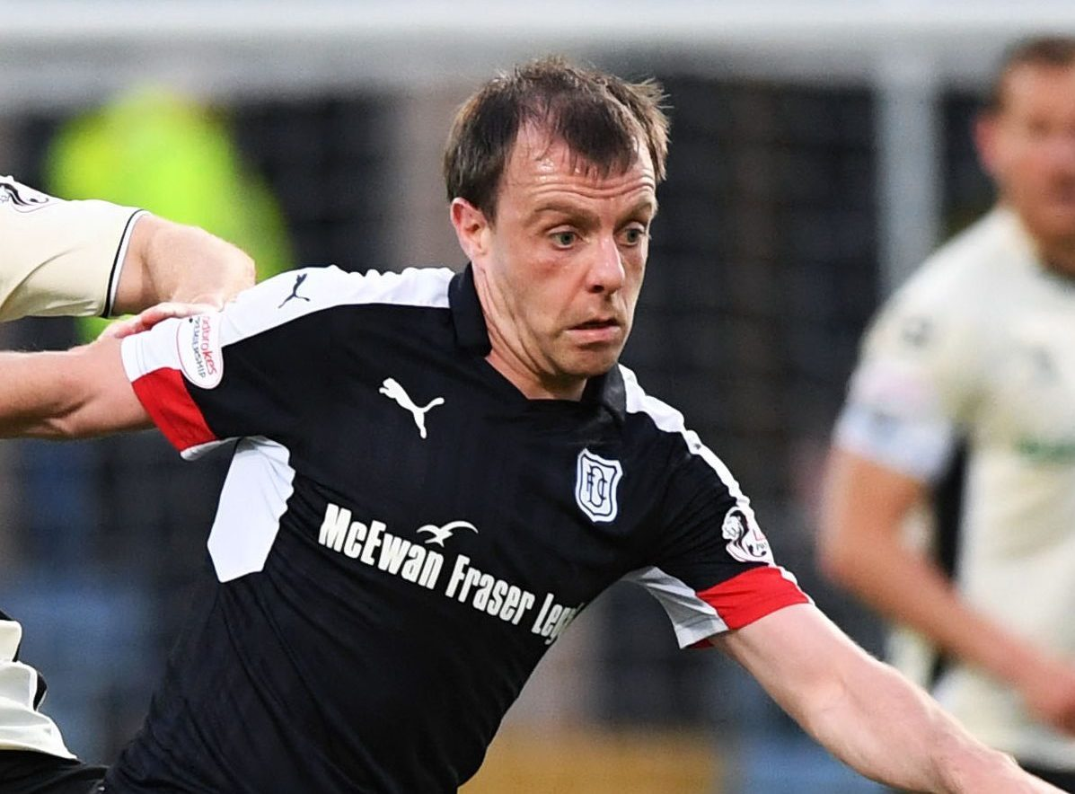 Paul McGowan in action against Inverness.