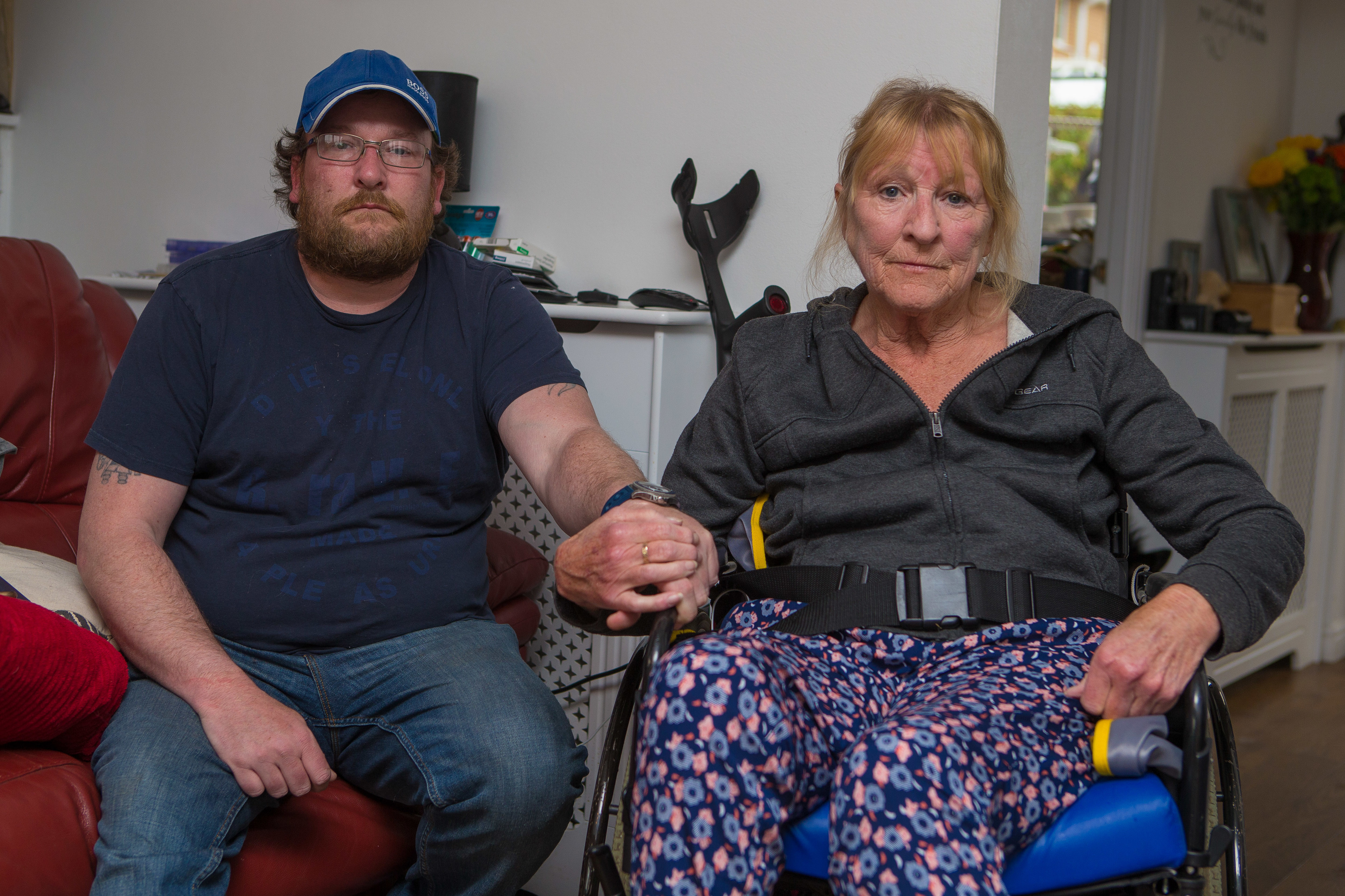 Alan Mitchell with his terminally ill mother Margaret.