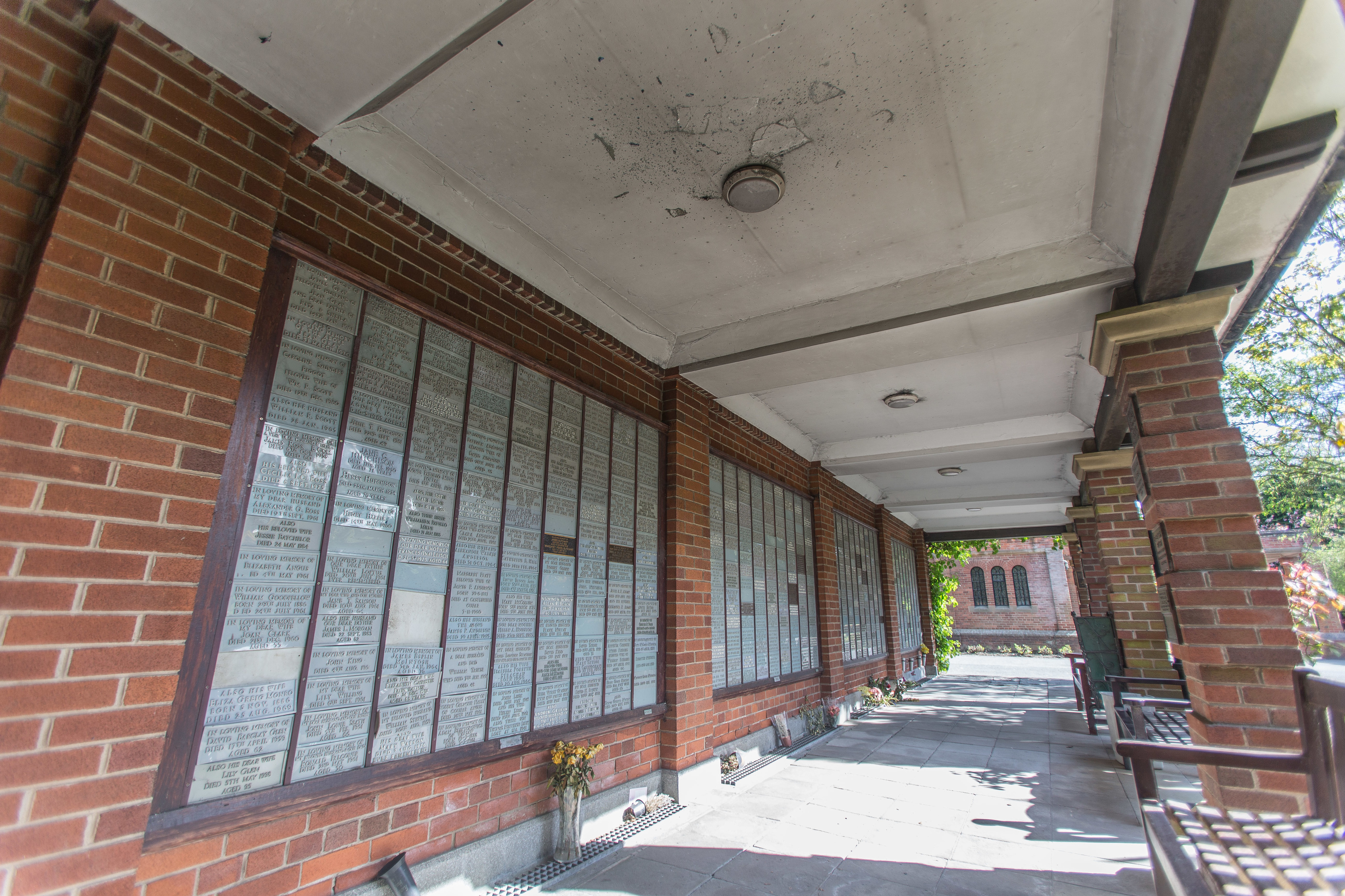 Some of the plaques were so badly damaged that they had to be removed.