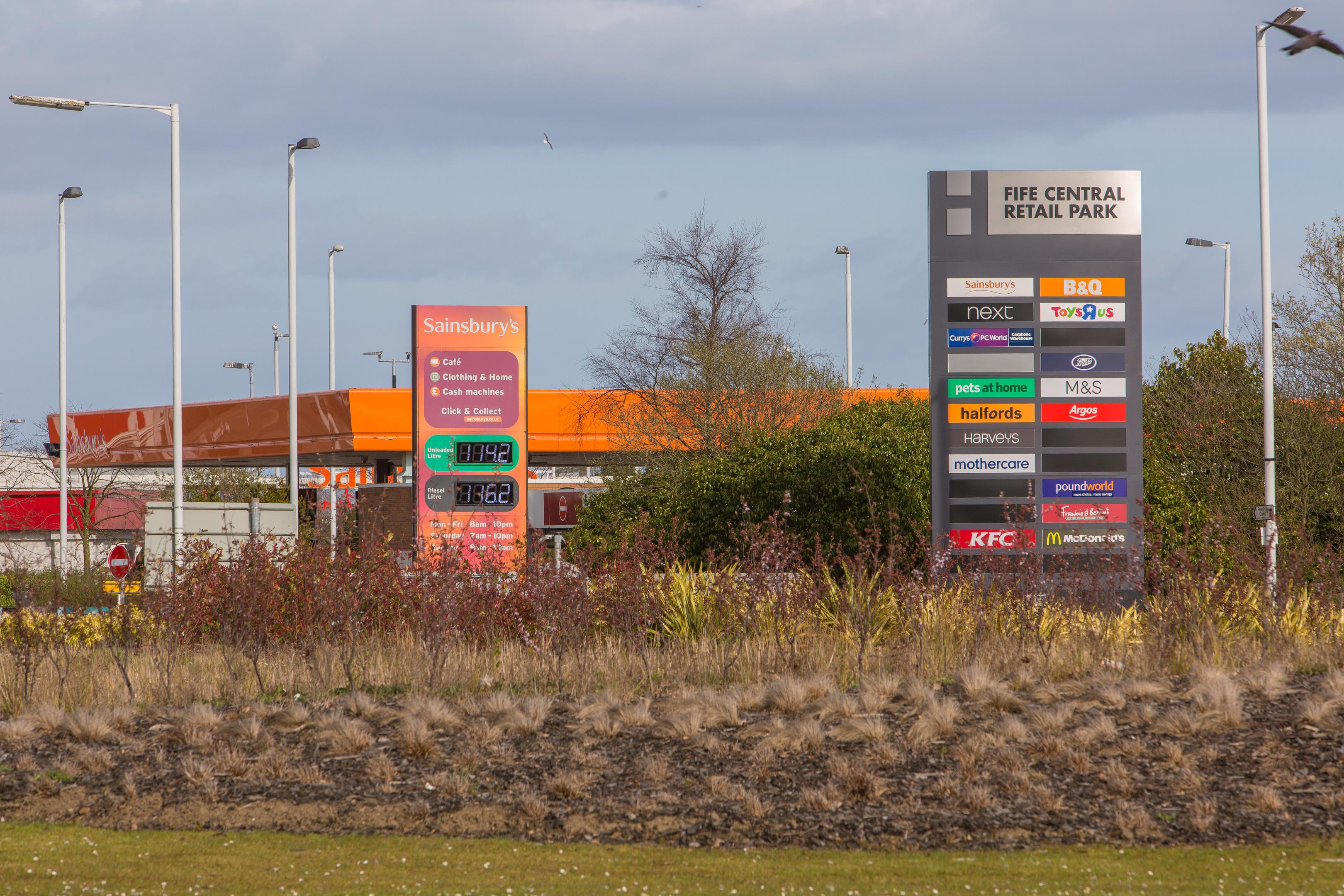 Fife Central Retail Park, Kirkcaldy.