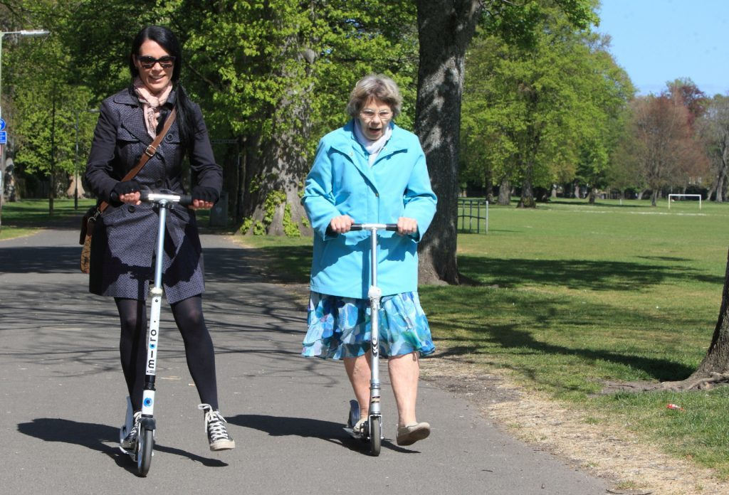 Scooting along with Barbel.