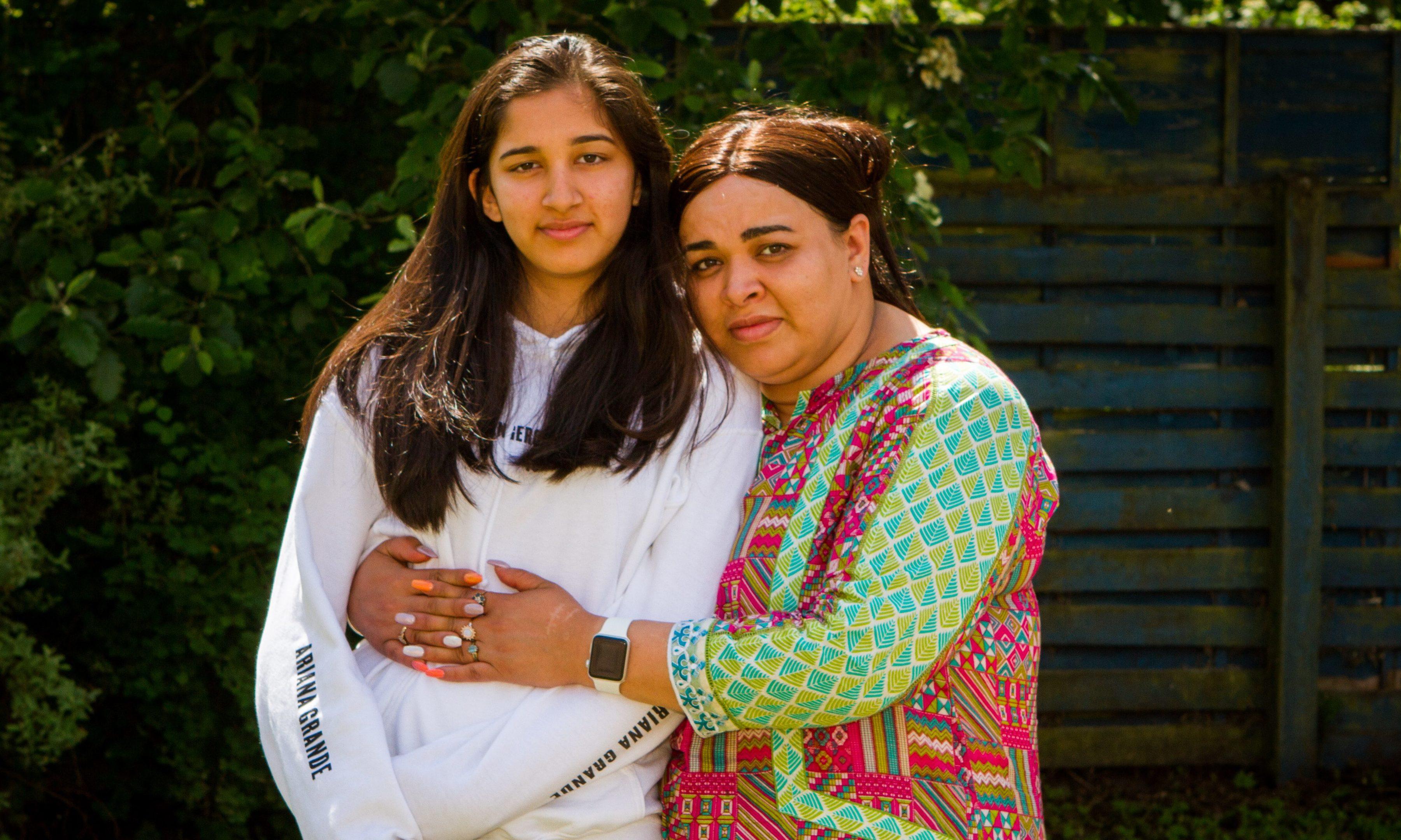 Saima Shah with daughter Muminah (Mona) Shah, 14.