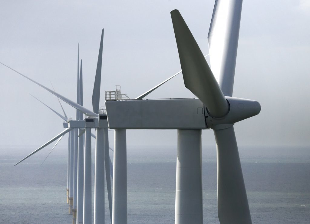 An offshore wind array