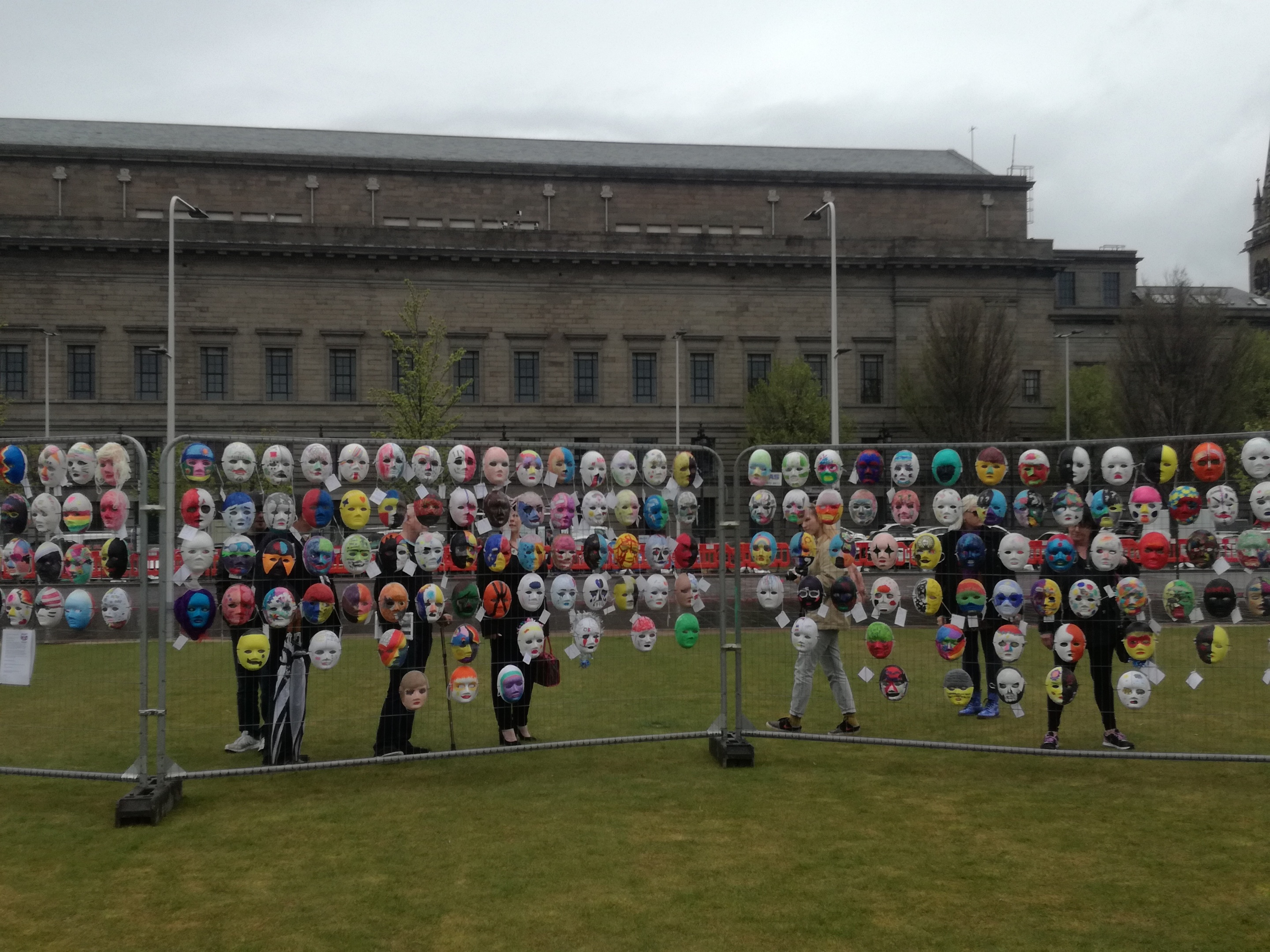 900 masks went on display in Slessor Gardens to mark the start of the festival.
