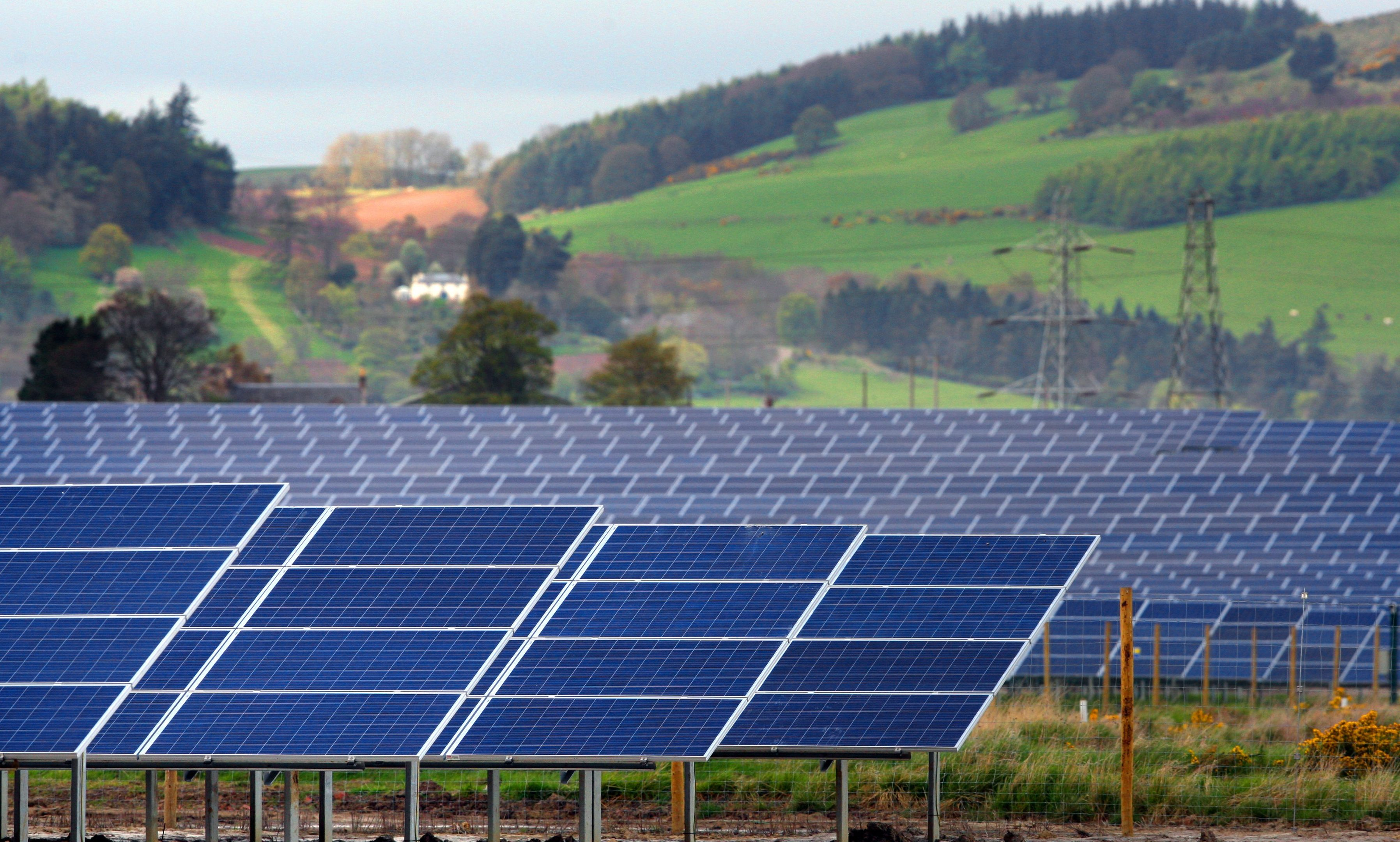 Scotland's biggest solar farm at Errol.