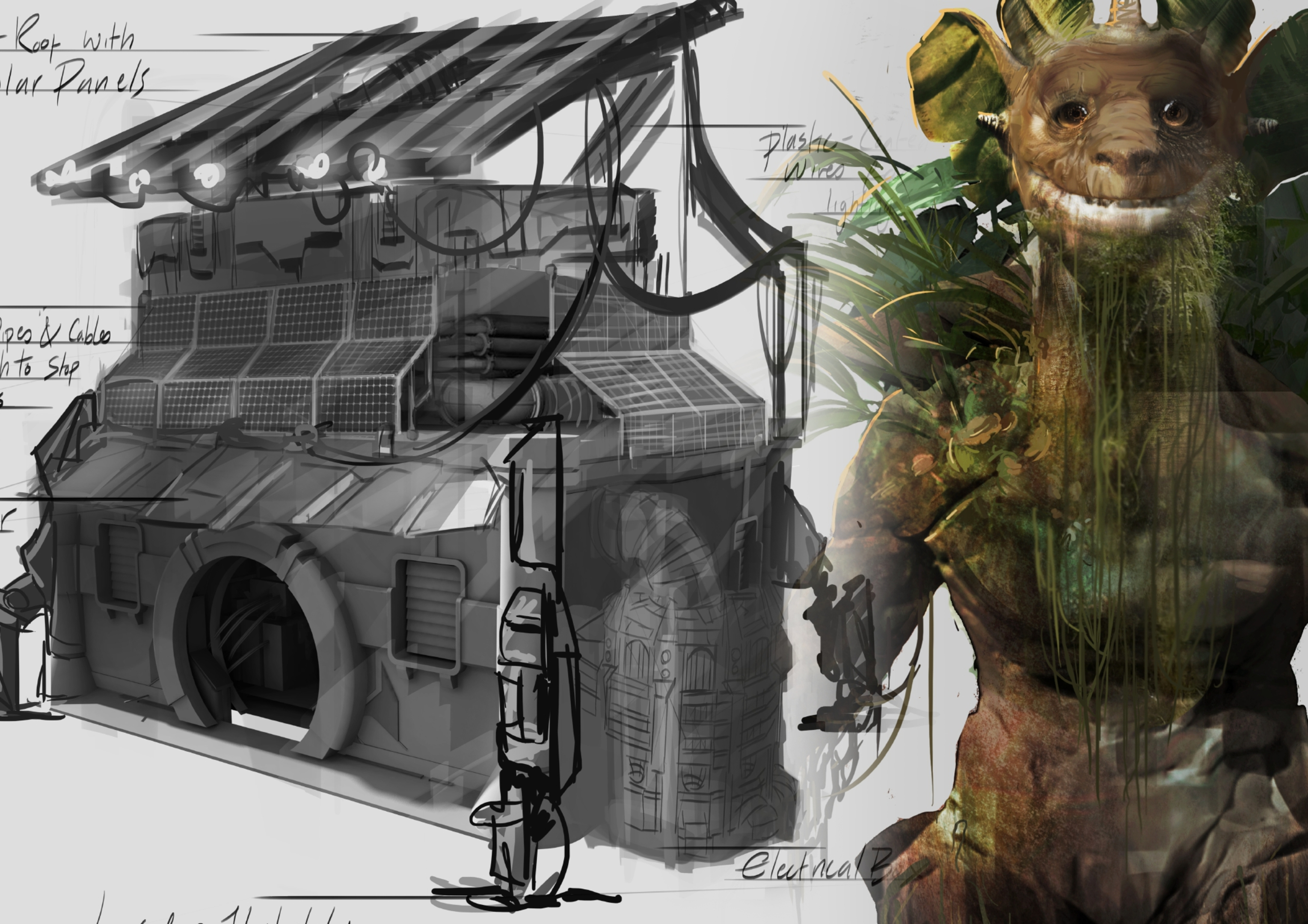 An example of Sophie North's concept art.