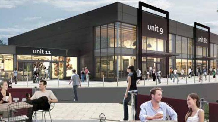 An artists' impression of the St Catherine's Retail Park plan.