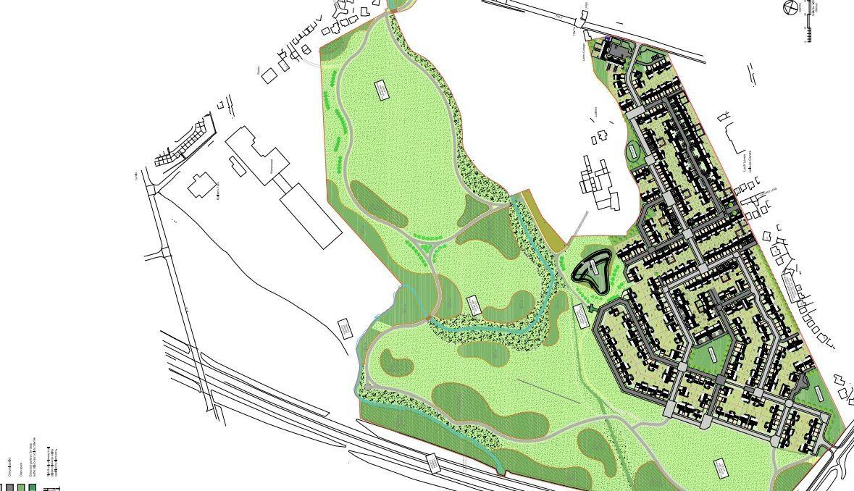 Graphic of Lathro Park development.