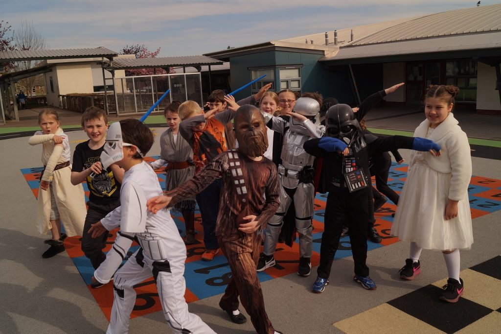 Empire and Alliance join forces for a surprise playground dance (and the odd Usain Bolt signature celebration).
