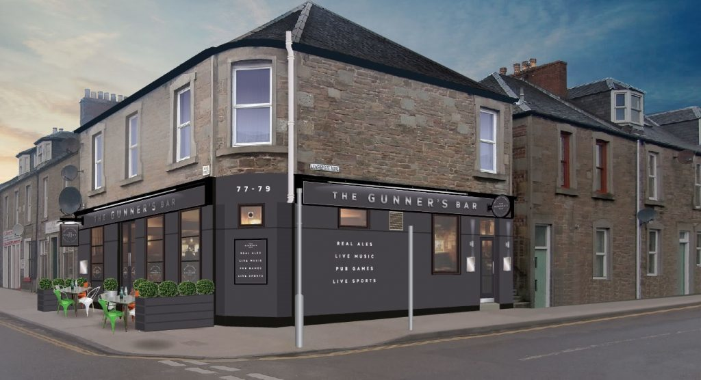 The proposed designs for The Gunner's in Broughty Ferry.