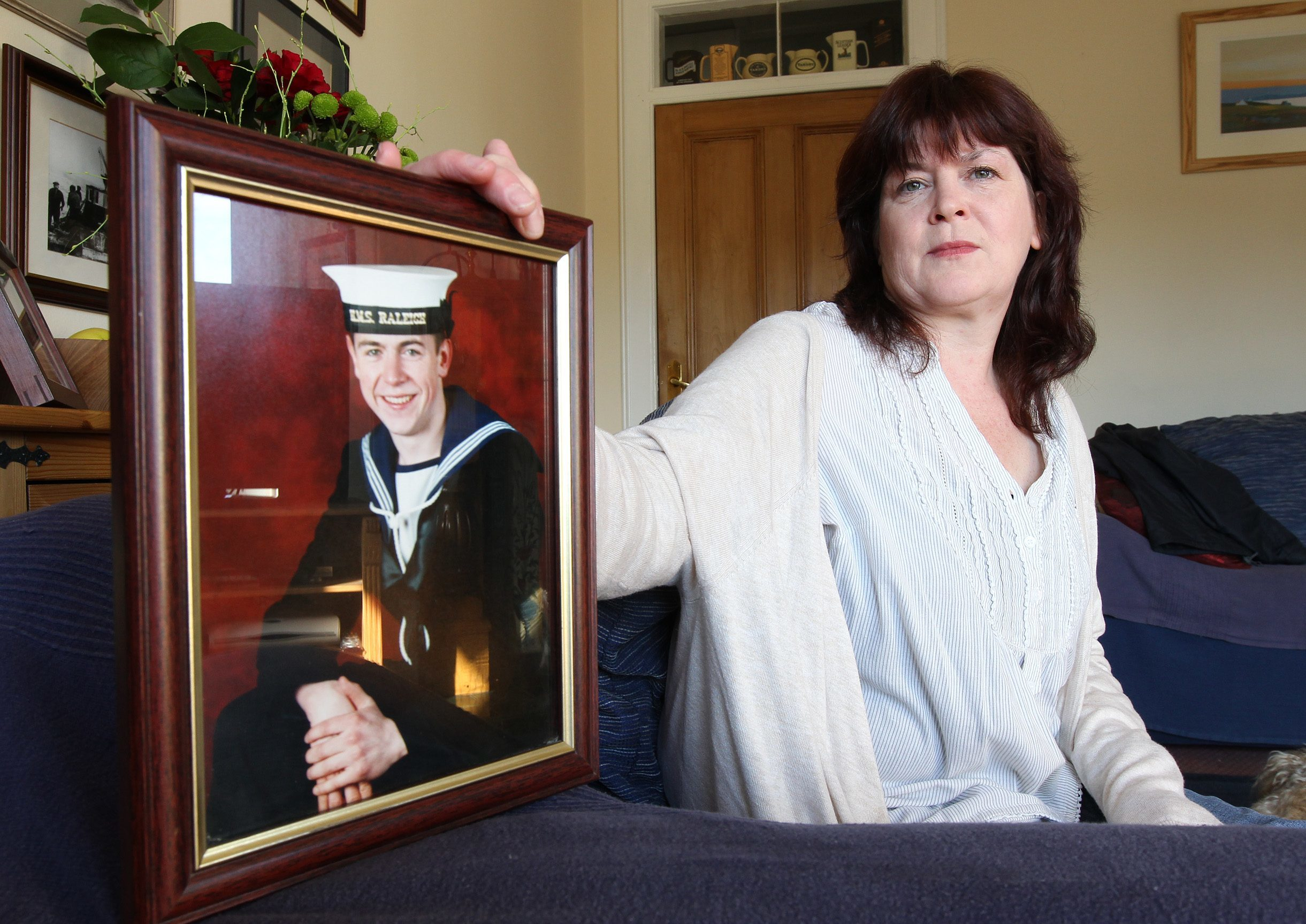 Sheena MacColl with a picture of her son Timmy MacColl.