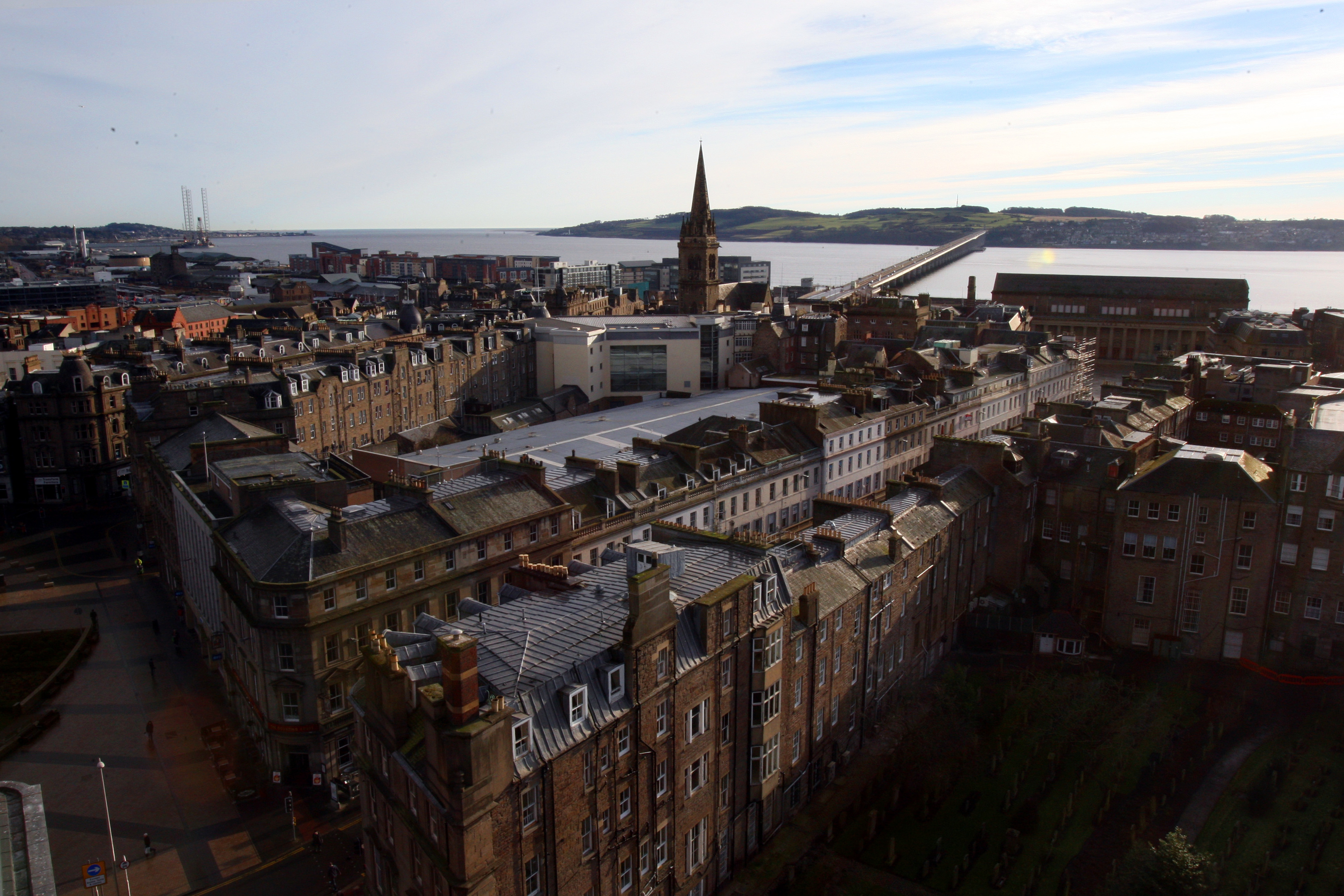 Views across Dundee city centre