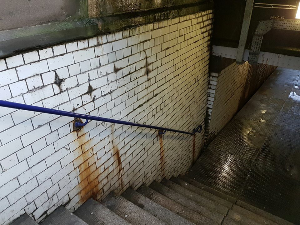 The underpass at Gray Street.