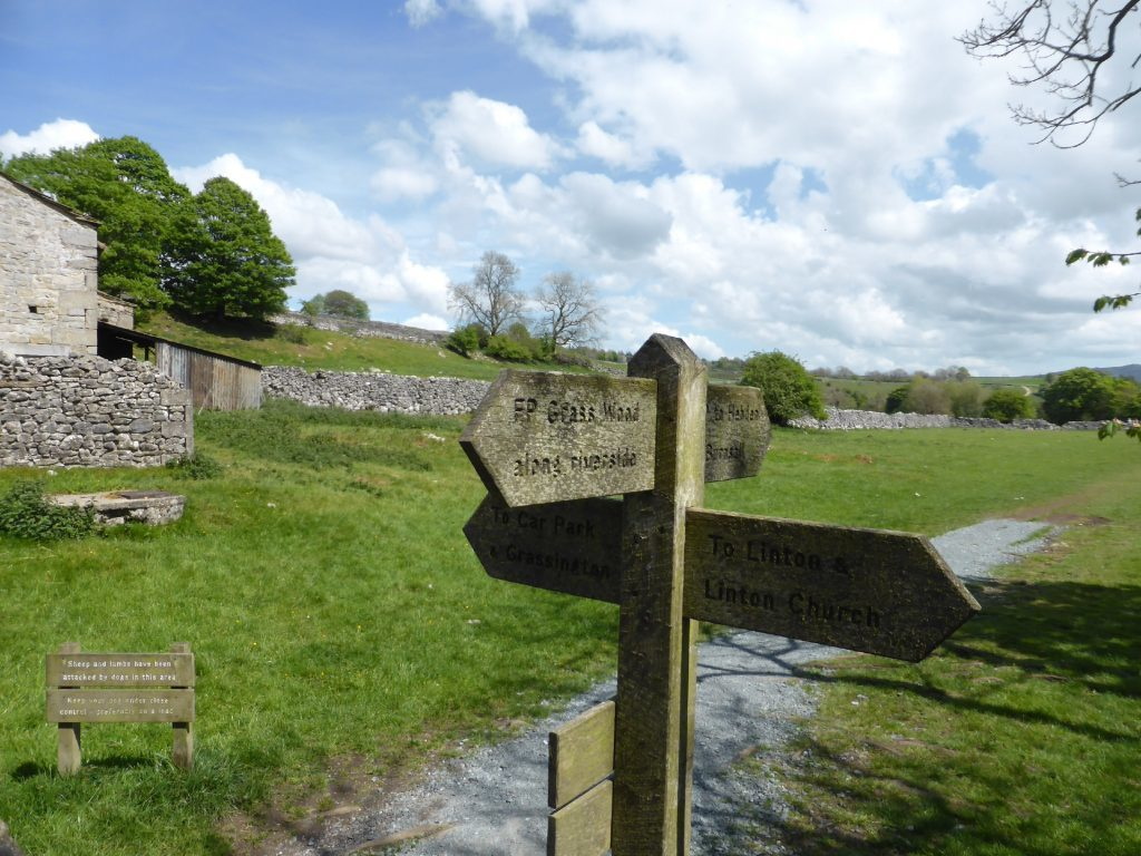 Waymarkers in the Yorkshire Dales.