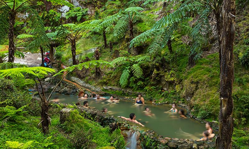Caldeira Velha, Natural Spa, Sao Miguel, Azores, Portugal