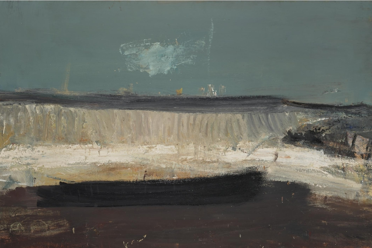 The Wave (1961),  painted by Joan Eardley during her time at Catterline.