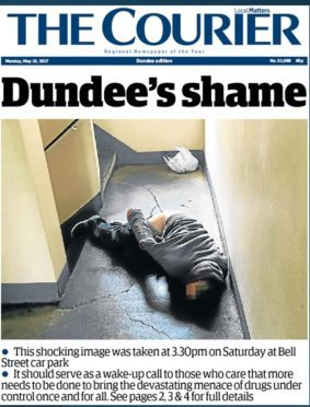A modern day front page of The Courier