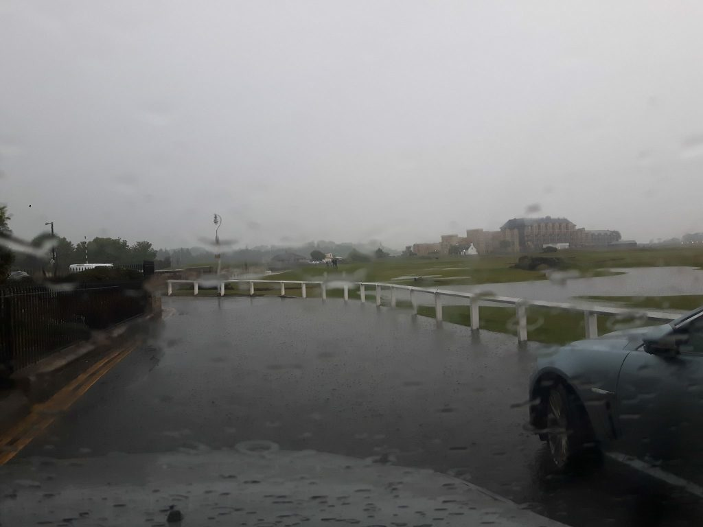 Localised flooding at the Old Course in St Andrews