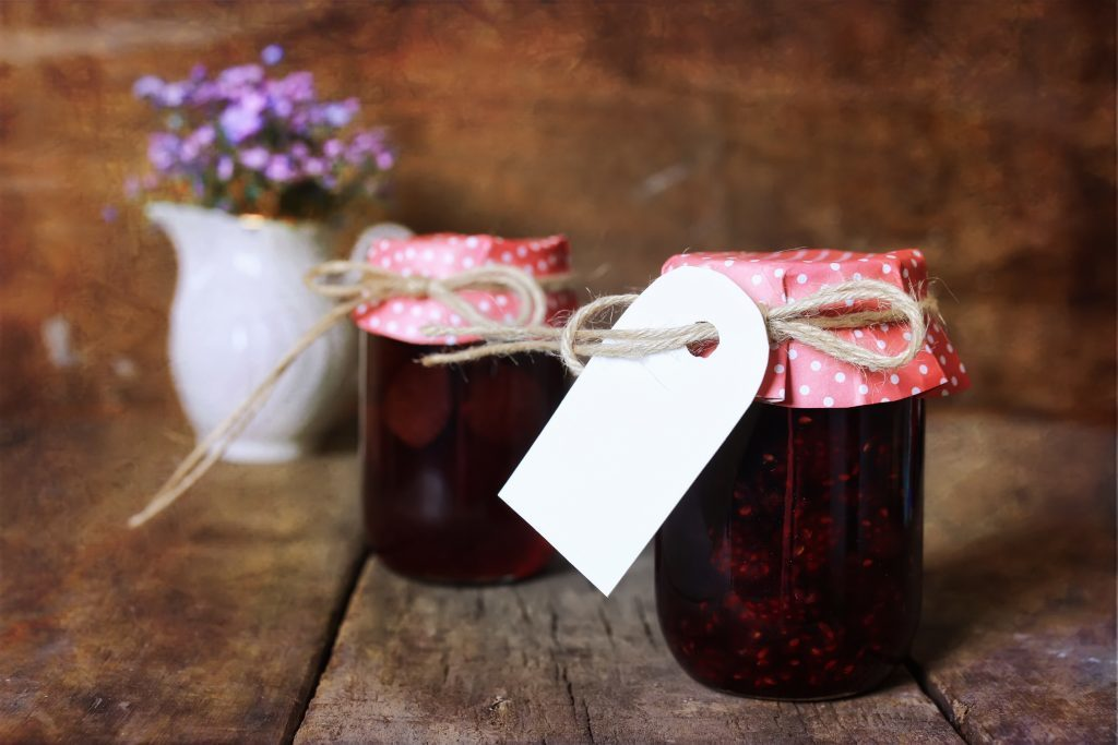 retro rustic homemade jam jar