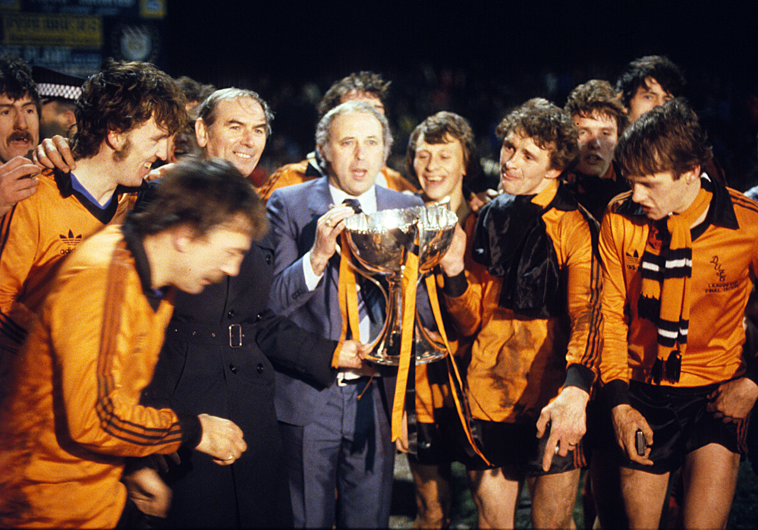 Jim McLean with the League Cup in 1979.