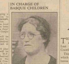 May Wilson pictured in a 1937 newspaper report