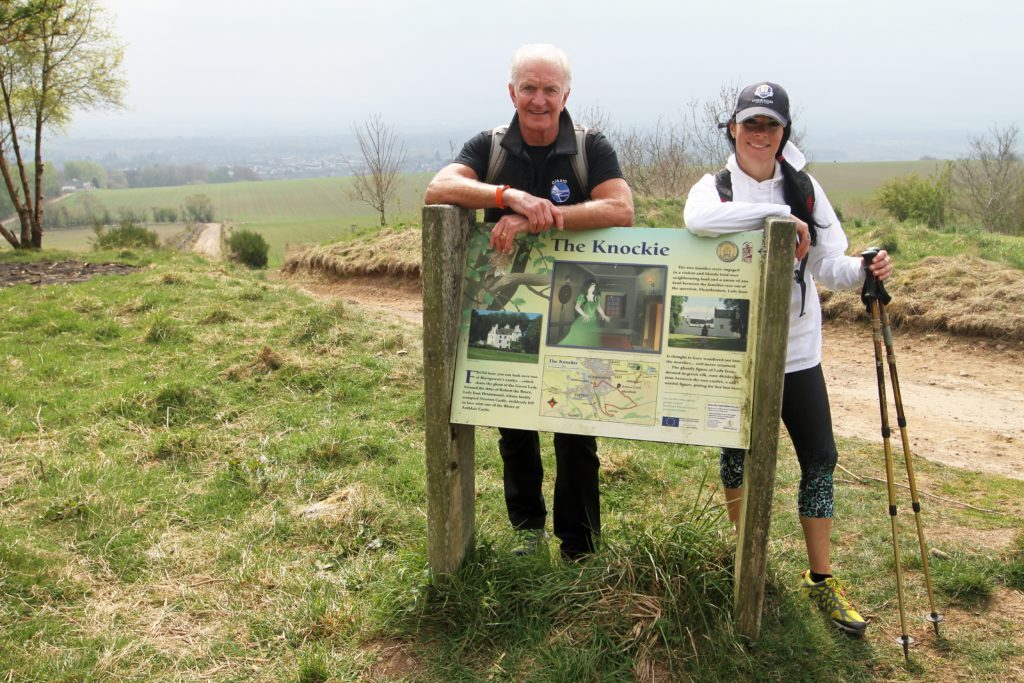 Mike Mooney and Gayle Ritchie near Blairgowrie, along the Cateran Trail.