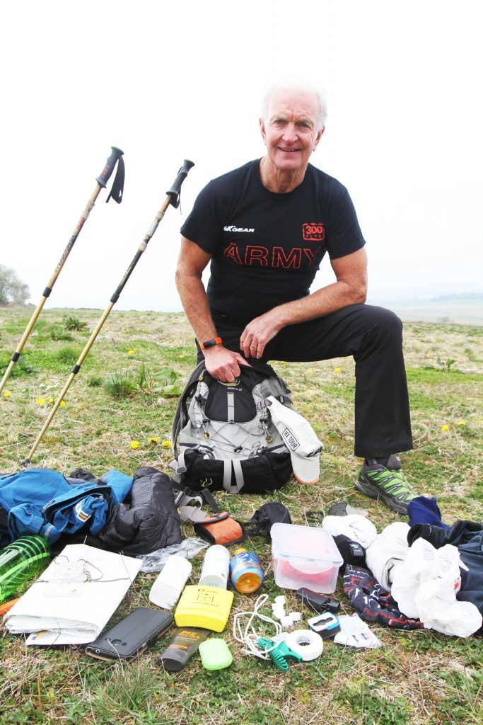 Mike Mooney with all his kit.