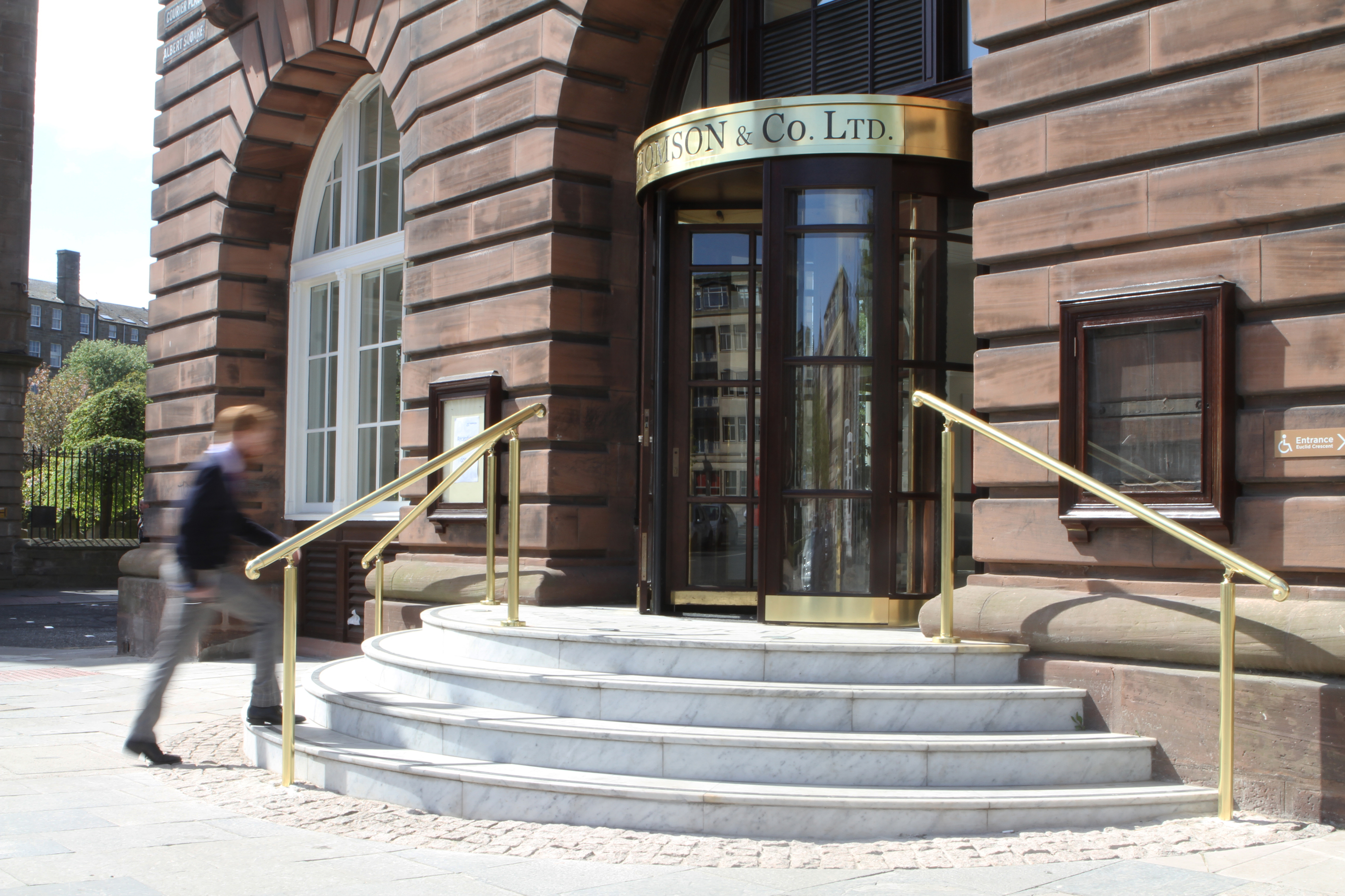 The entrance to the Courier Offices.
