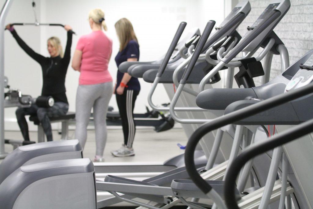 The staff gym.